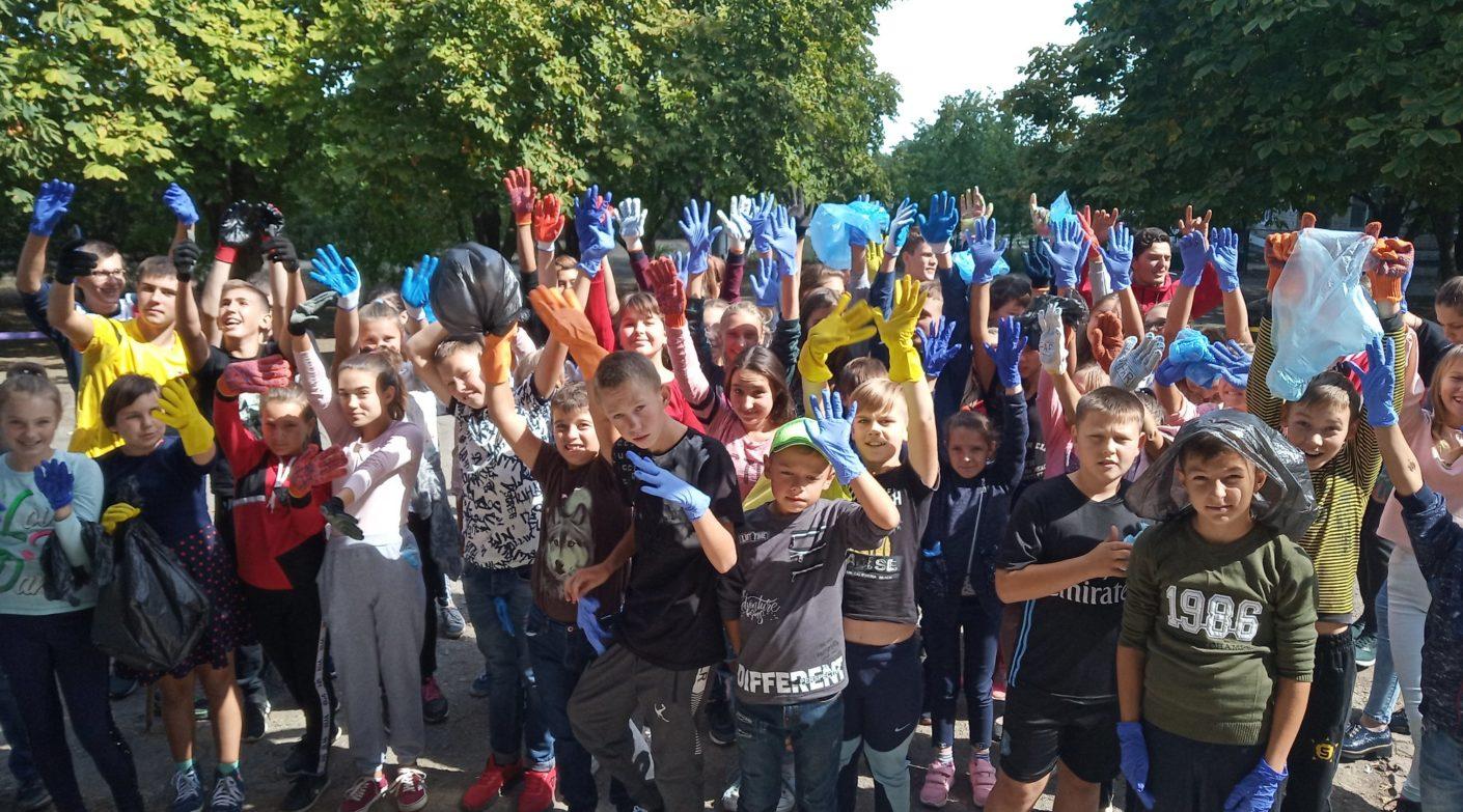 «МІЖНАРОДНИЙ МОЛОДІЖНИЙ РУХ «SCHOOL RECYCLING WORLD» приєднався до Всесвітнього дня чистоти  «World Cleanup Day».